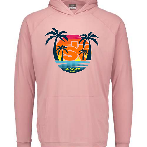 Sidekicks Championship Sunproof Hooded Long Sleeve Tee - Cameo Pink