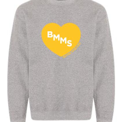 BMMS Heart Crewneck Sweatshirt