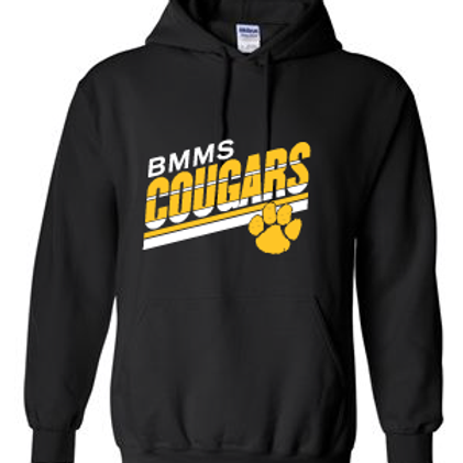 BMMS Angled Stripes Hooded Sweatshirt