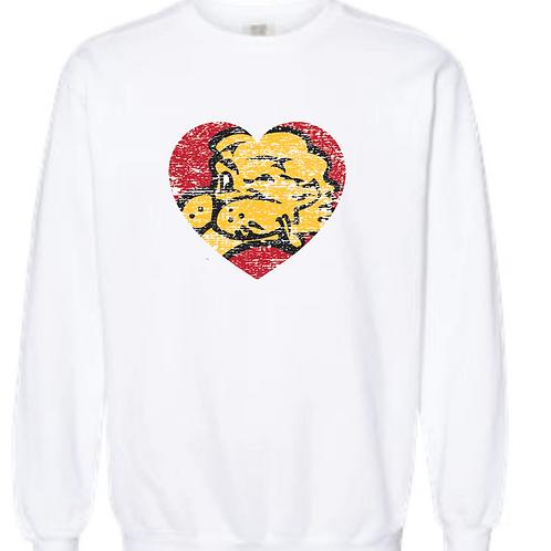 Chesty Heart Comfort Color Crewneck Sweatshirt