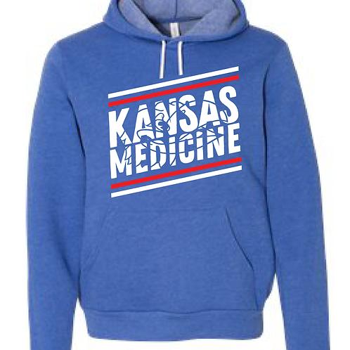 KU Pre-Med Club Raglan Hooded Sweatshirt