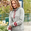 Thumbnail: LHS Chesty Embroidery Women's Striped Sleeve Hoodie