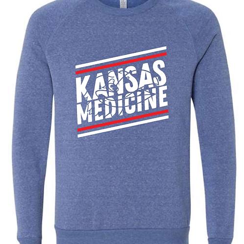 KU Pre-Med Club Raglan Crewneck Sweatshirt