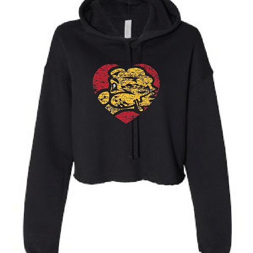 Chesty Heart Cropped Hoodie