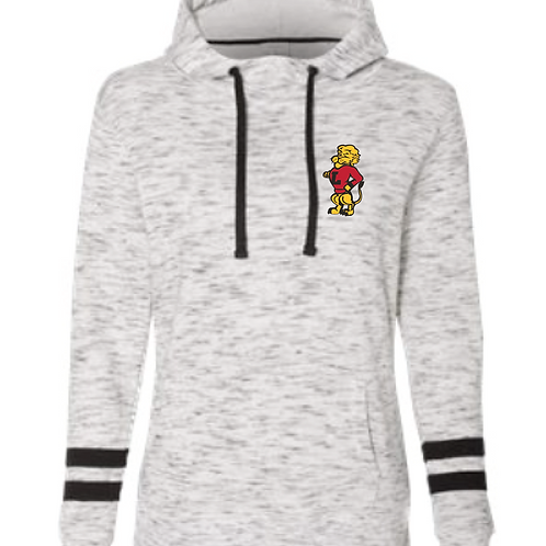LHS Chesty Embroidery Women's Striped Sleeve Hoodie