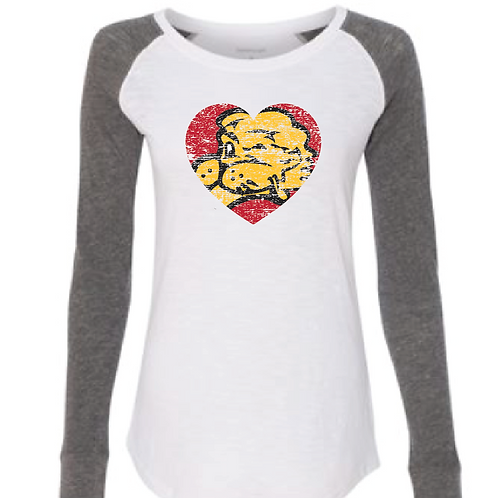 Chesty Heart Elbow Patch Tee