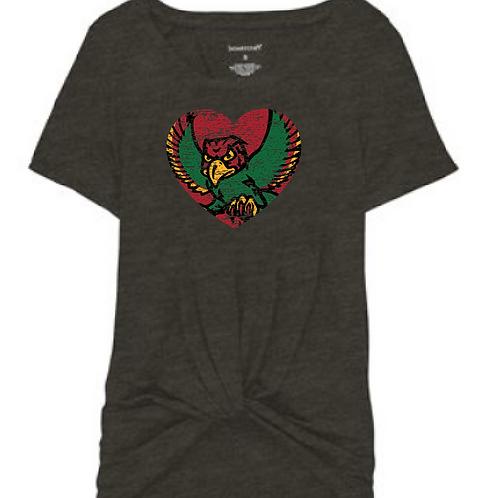 Firebird Heart Front Tie Tee
