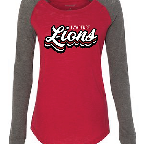 Stacked Lions Elbow Patch Tee