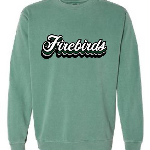 Cursive Firebirds Comfort Color Crewneck Sweatshirt