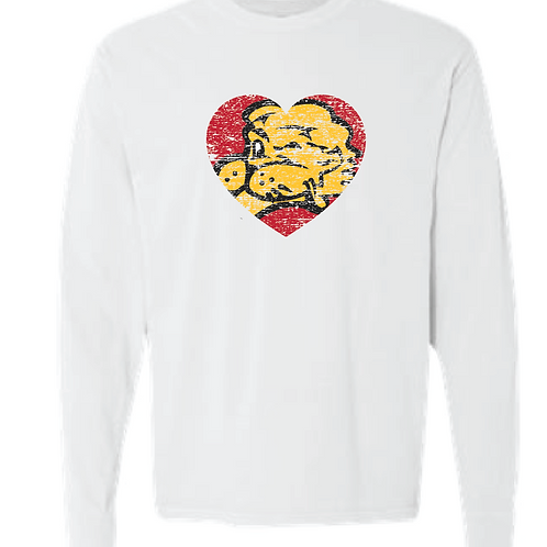 Chesty Heart Comfort Color Long Sleeve