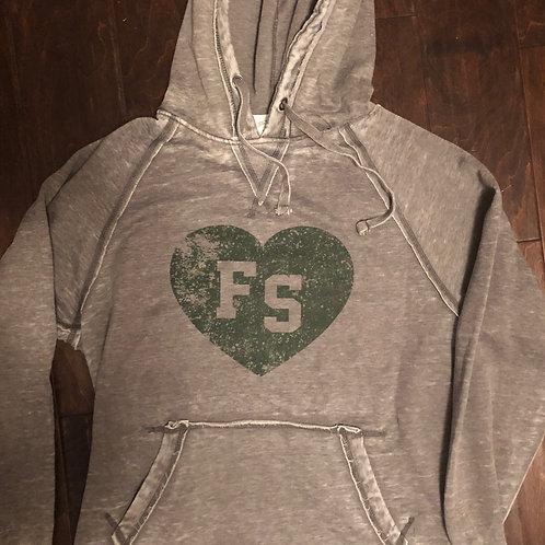 Heart Free State Firebird  Unisex zen Hooded Sweatshirt