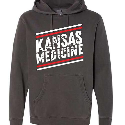 KU Pre-Med Club Pigment-Dyed Hooded Sweatshirt