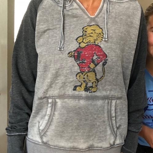 Women's Two-Tone Hooded Sweatshirt
