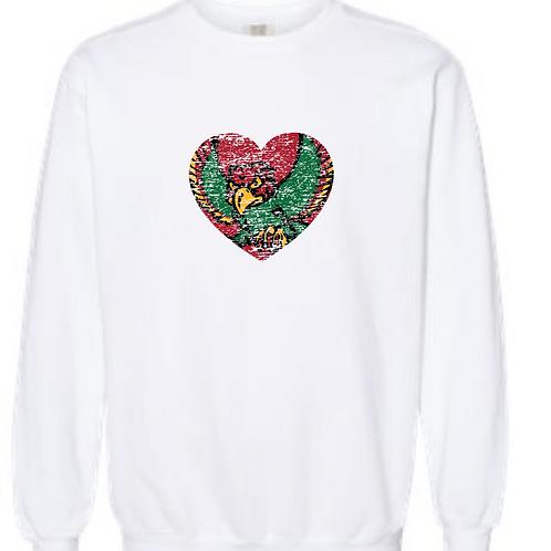 Firebird Heart Comfort Color Crewneck Sweatshirt