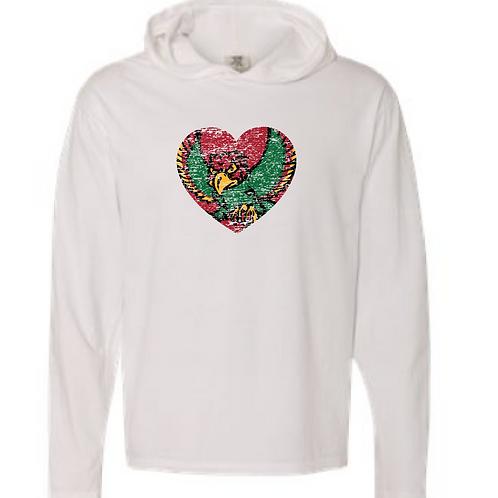 Firebird Heart Comfort Color Hooded Tee