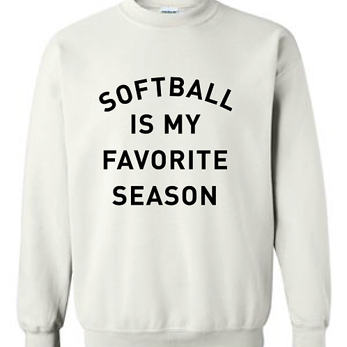 Softball Is My Favorite Season Crewneck Sweatshirt