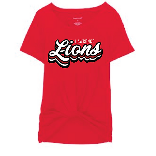 Stacked Lions Front Tie Tee