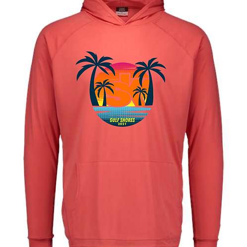 Sidekicks Championship Sunproof Hooded Long Sleeve Tee - Watermelon
