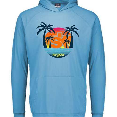 Sidekicks Championship Sunproof Hooded Long Sleeve Tee - Cali Blue