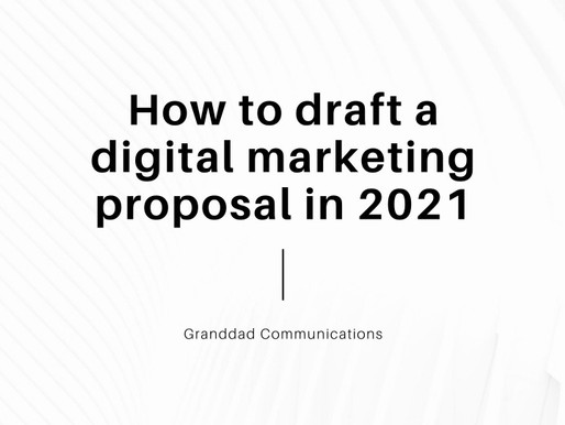 How to draft a digital marketing proposal in 2021