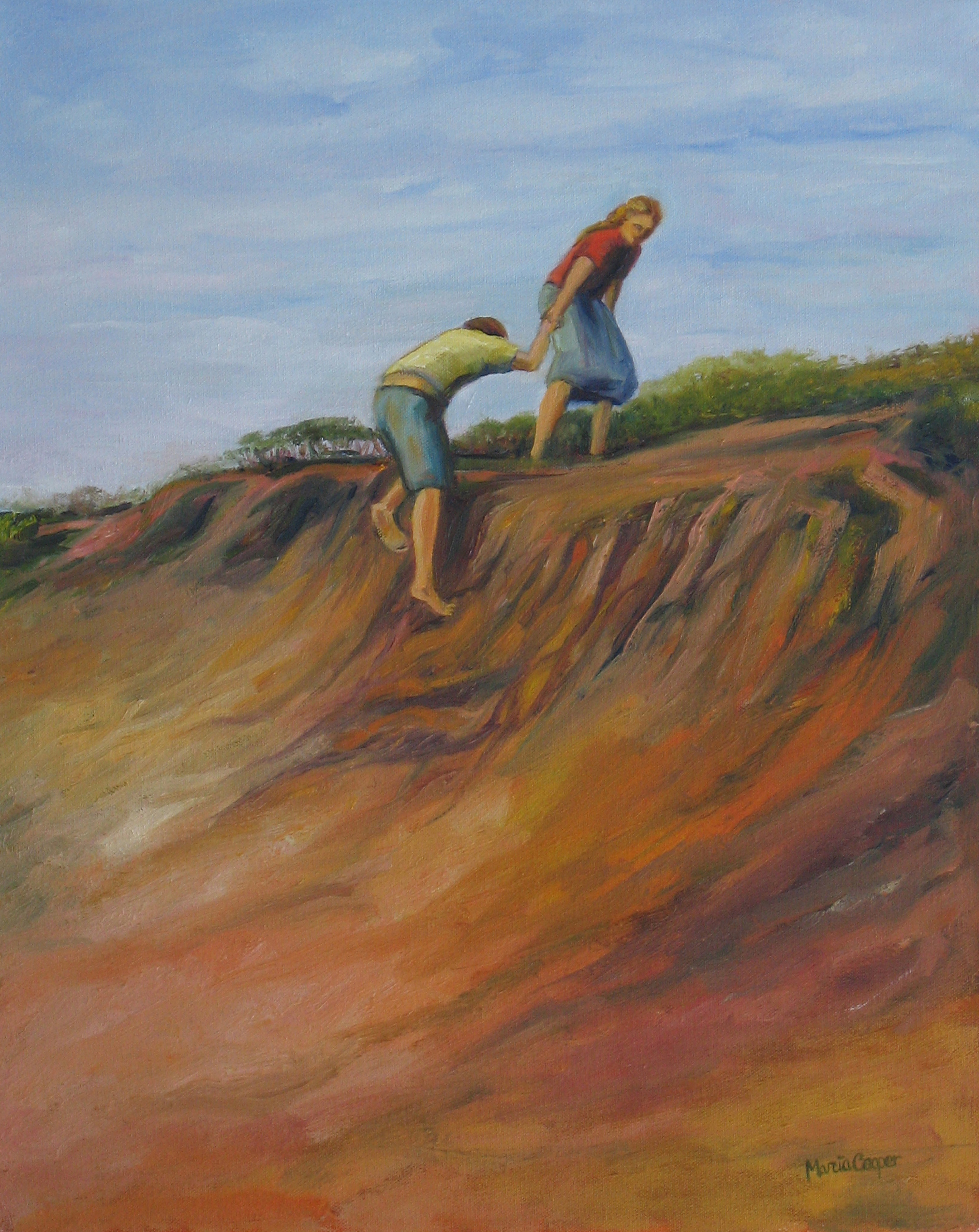 Helping Hand, oil, 20_ x 16_