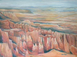 Bryce Revisited, acrylic, 40_x30_