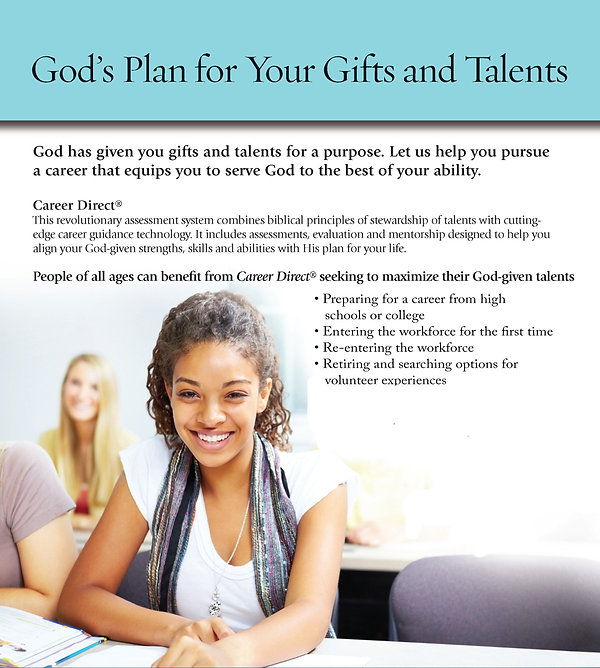 Career Direct God's Plan CD Flyer Modavi