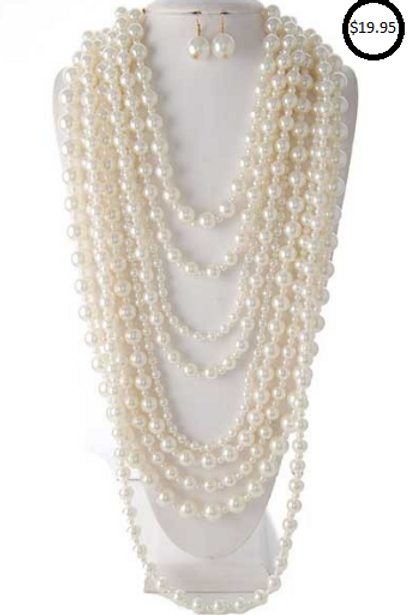Royalty Multi Strand Pearls