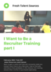 I want to be recruiter training 2020 png