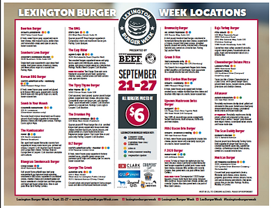 Lexington Burger Week Passport