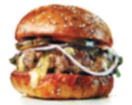 A beautiful burger