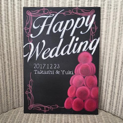 Wedding ウェルカムボード(マカロンデザイン)
