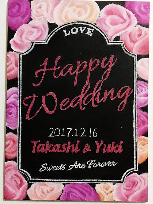 Wedding ウェルカムボード(バラデザイン)