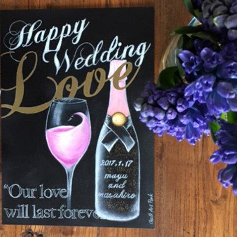 Wedding ウェルカムボード(ワインデザイン)