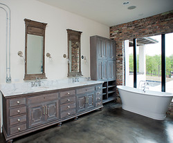 industrial master bath