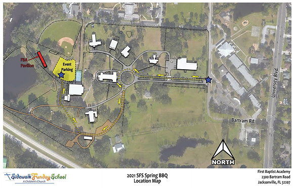 2021 Spring BBQ Driving and Parking Map.
