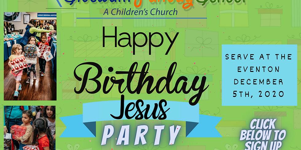 Happy Birthday Jesus Party 2020