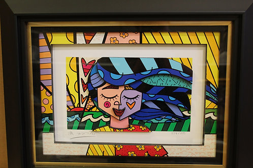 A Girl in the Wind by Romero Britto