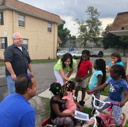 At the beginning of each semester we do outreach at some of our sites to get to know the residents.