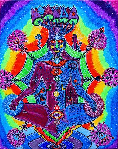 """""""Nirvāṇa """" Original Visionary Painting"""