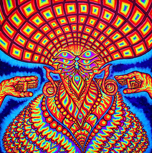"""SHAMAN"" Original Neon Visionary Painting"