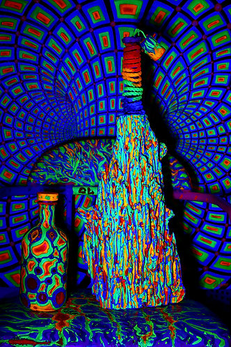 """""""Place of Energy"""" Original Neon Visionary 3D Art-Object"""