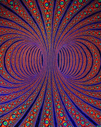 """ALL-SEEING TORUS"" - Original Blacklight/UV Visionary Painting"