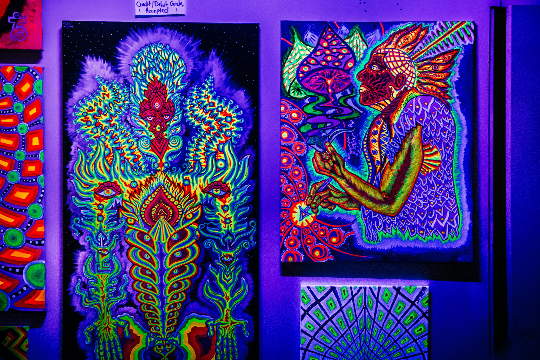 Human-God and Artist Universe under Black Light