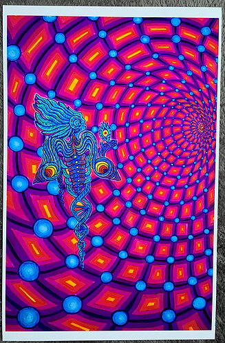 """TRANSPERSONAL DIMENSION"" - Signed and Numbered Metalic Photo Print 12X18"