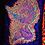 "Thumbnail: ""Sacred Warrior"" - Satin Blacklight UV Tapestry. Glows Under UV Light!"