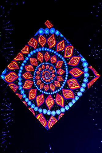 """Spiral of Rebirth"" Original Neon-Phosporescent Visionary Painting"