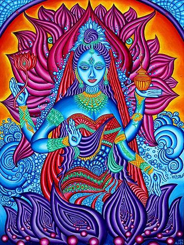 """LAKSHMI Goddess""  Original Visionary Painting"