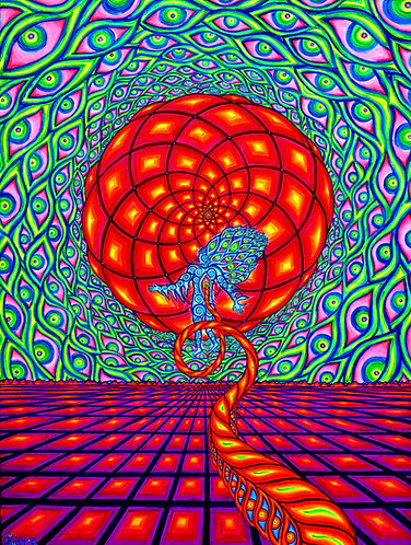 """""""ASTRAL JOURNEY"""" Original Neon Visionary Painting"""