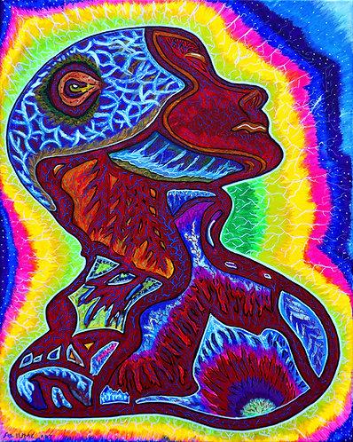 """Transcendens"" Original Visionary Painting"